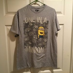 One in a MINION Gray T-shirt.  Size Large